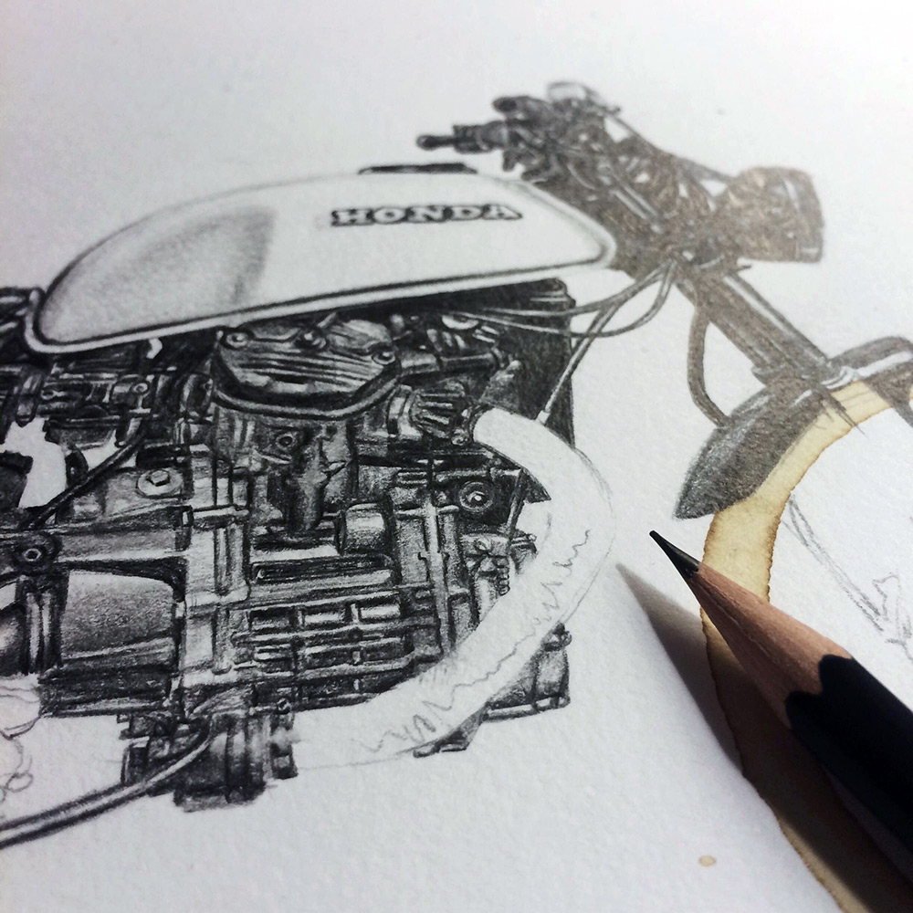 Drawn pen motorcycle 2 Carter Stain Motorcycle Colossal
