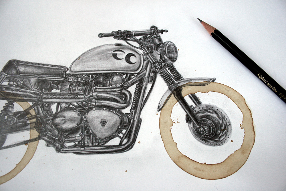 Drawn pen motorcycle 4 Carter Stain Motorcycle Colossal