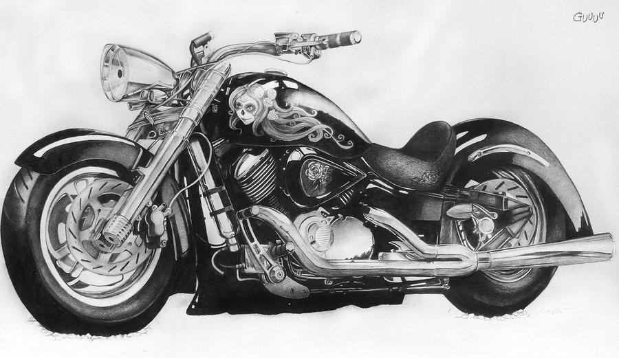 Drawn pen motorcycle 2012 Gunchixs Gunchixs Motorcycle DeviantArt