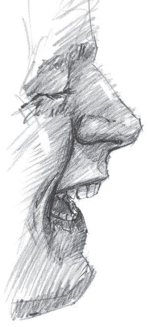 Drawn pen mouth Best Drawing potloodtekeningen images about