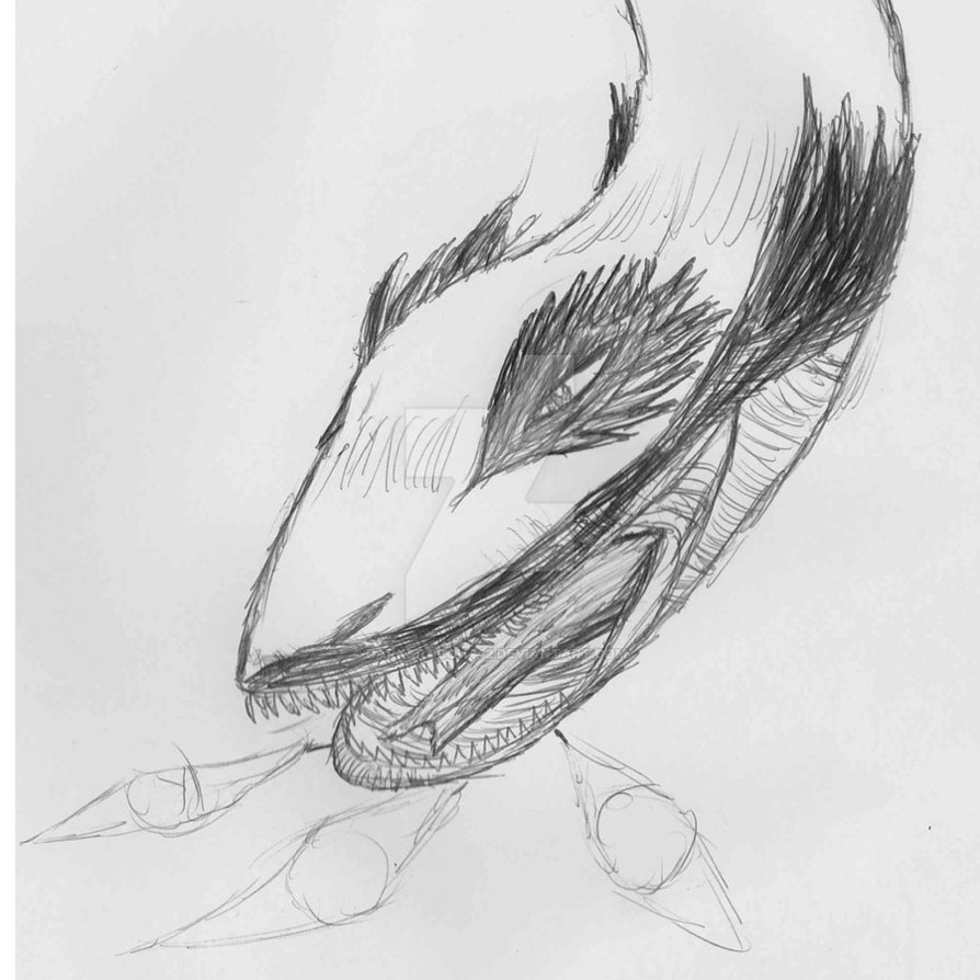 Drawn pen mouth Mouth Pen open ID on