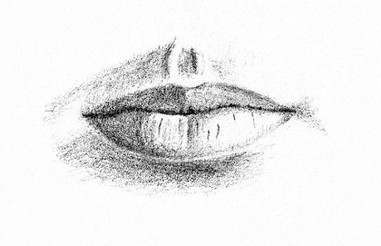 Drawn pen mouth Tones Step Mouth to Drawing