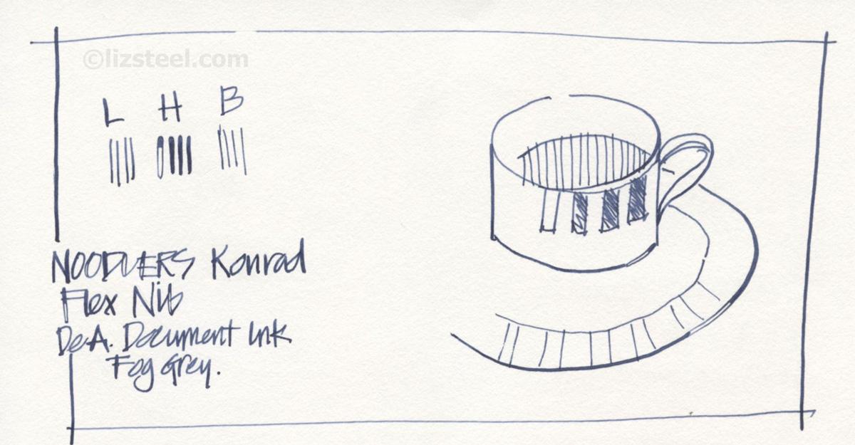 Drawn pen noodler Quite I 6: Pen that
