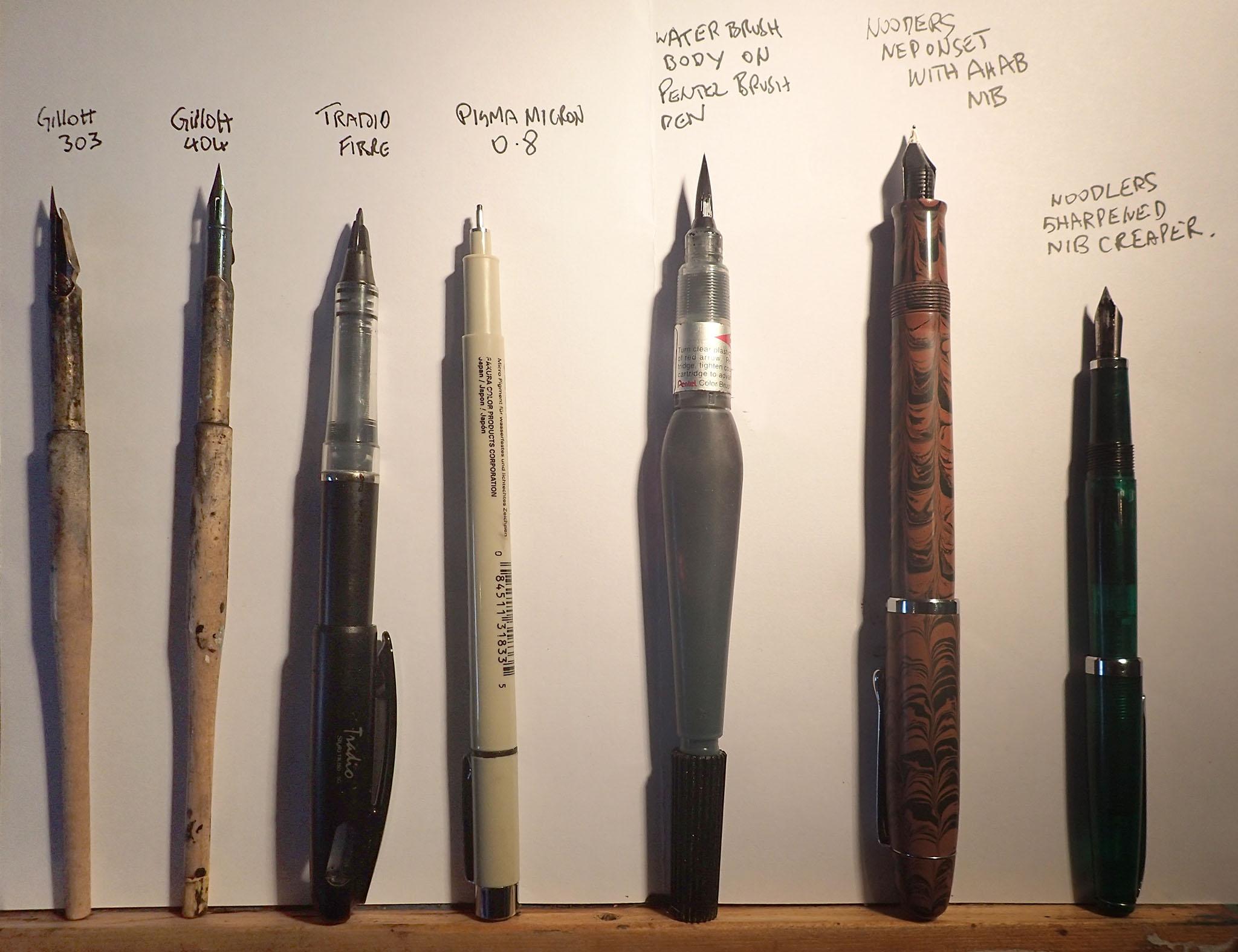 Drawn pen noodler Trade pens the Pen neponsit