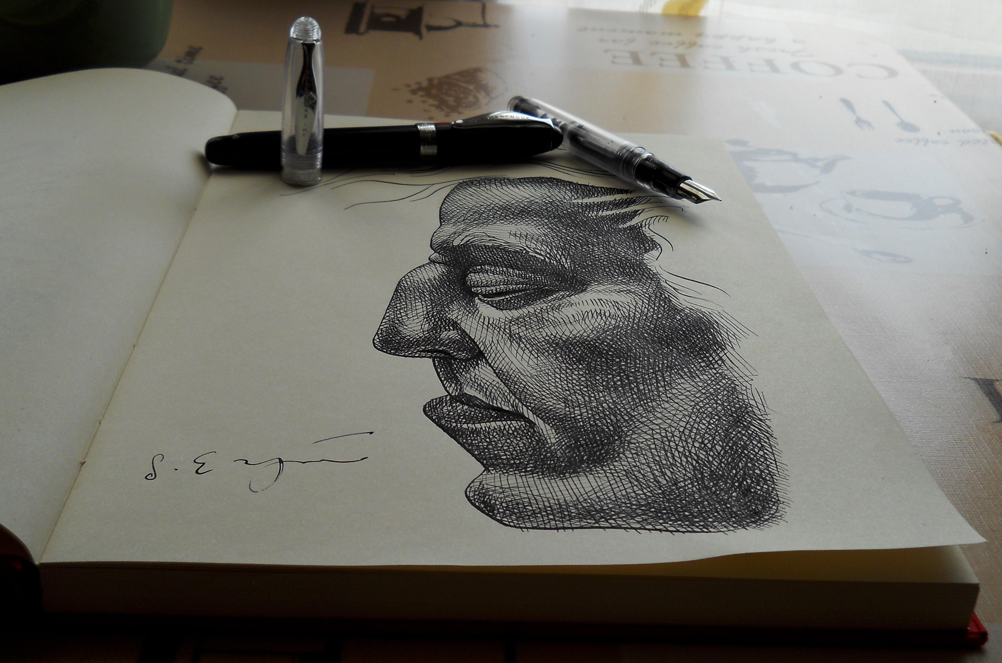 Drawn pen noodler Fountain Noodler Ahab review Pen