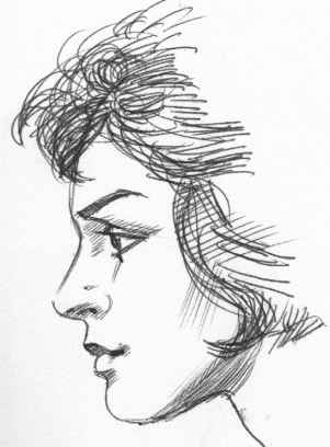 Drawn profile women's profile A female profile ink Profiles