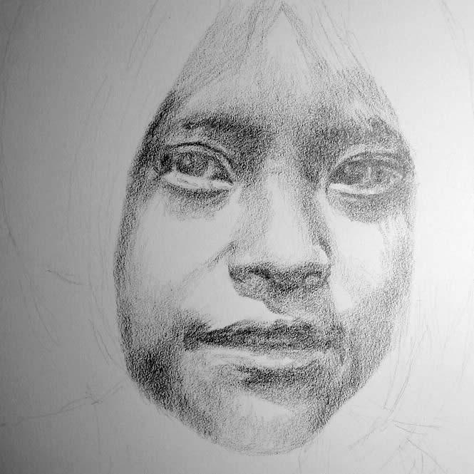 Drawn pen nose Portrait 9 by Tutorial Max