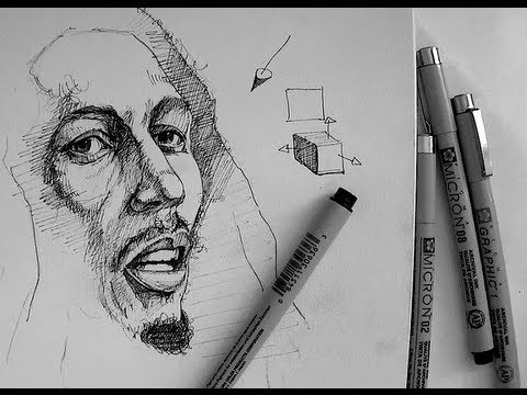 Drawn pen pen drawing  Tutorials realistic to How