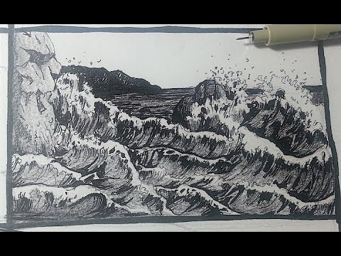 Drawn pen pen drawing  Tutorials seascape to How
