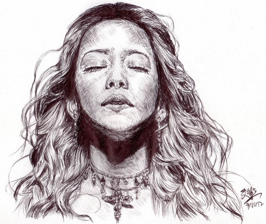 Drawn pen portrait drawing Pin drawing ideoihin! Pen kiinnostaviin