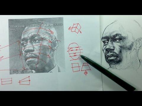 Drawn pen portrait drawing Tips & Portrait Drawings Pen