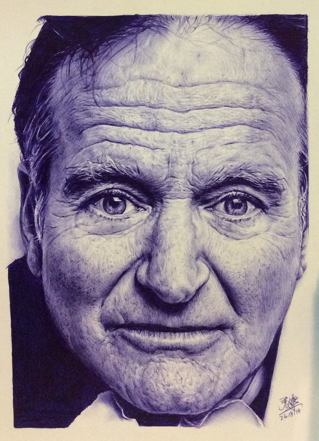 Drawn portrait ballpoint pen Of by Ballpoint Ballpoint Robin