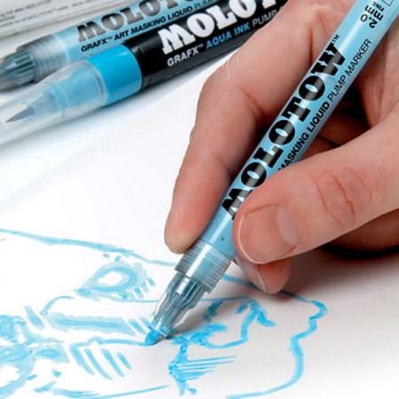 Drawn pen pump The Art Liquid the
