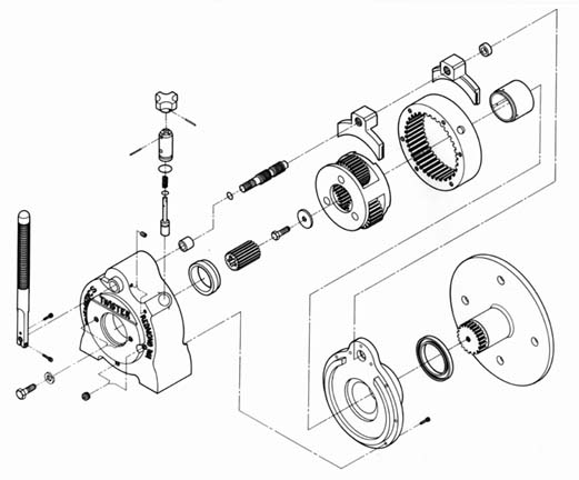 Drawn pen pump Pump with Gear Proposal and