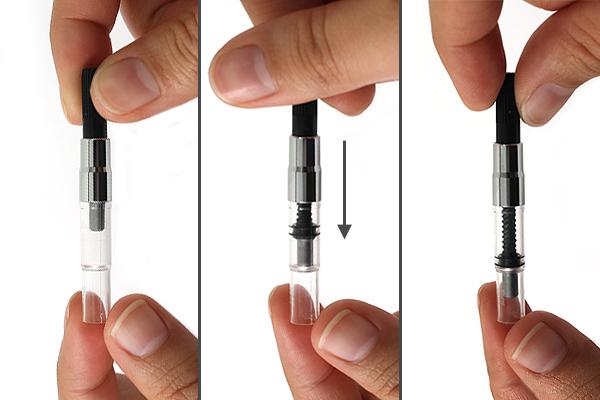 Drawn pen pump Out piston JetPens com air