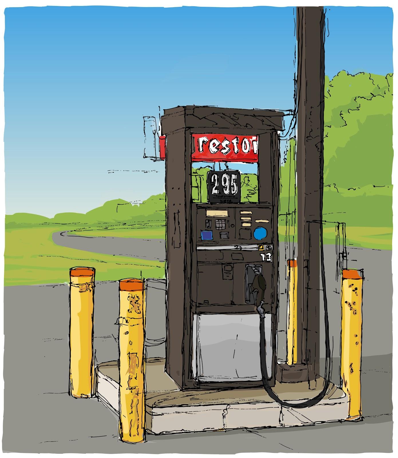 Drawn pen pump Drawing Breier: Pump Gas Pump