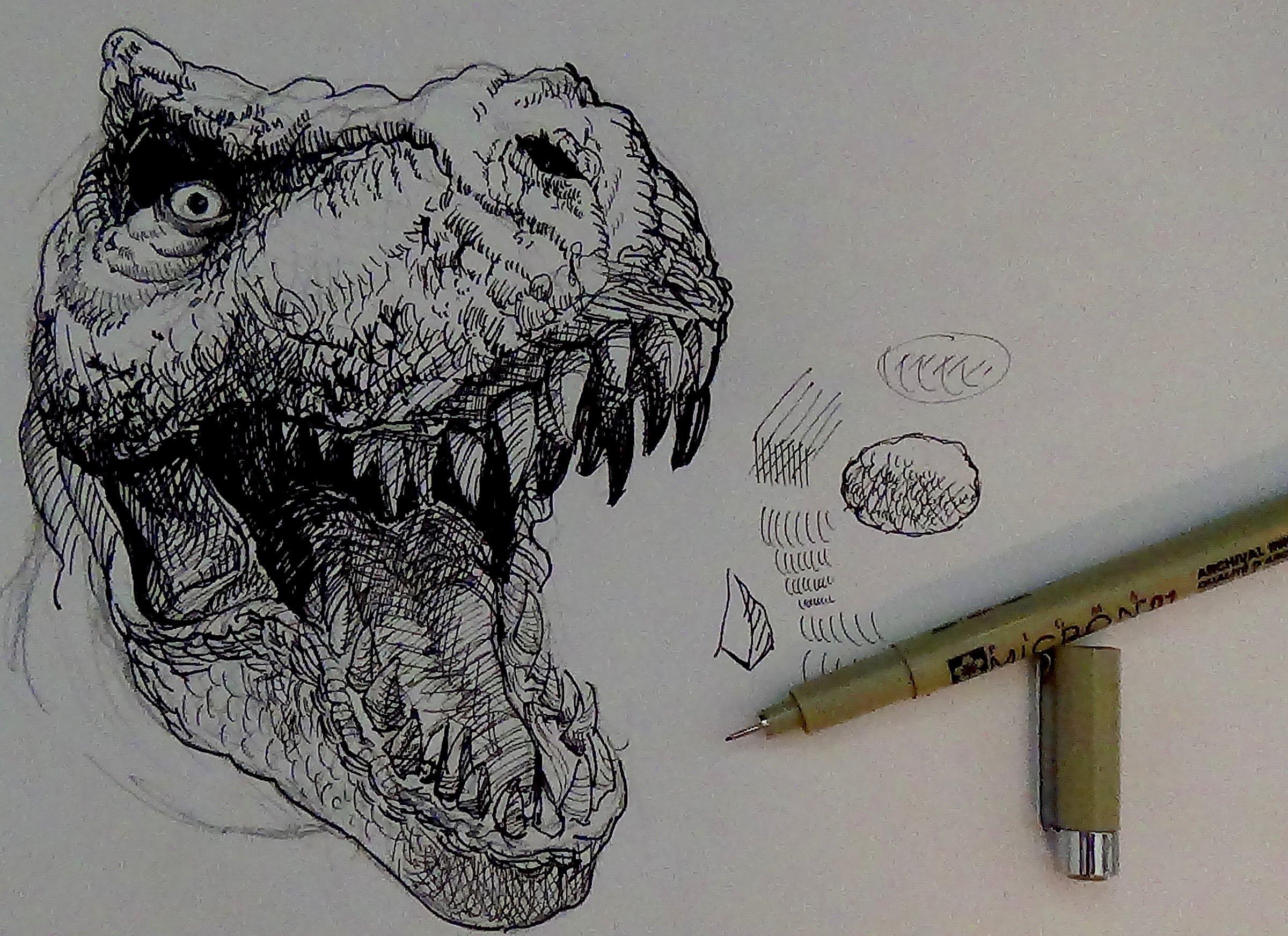 Drawn smoke seriousness Tutorials Dinosaur rex YouTube How