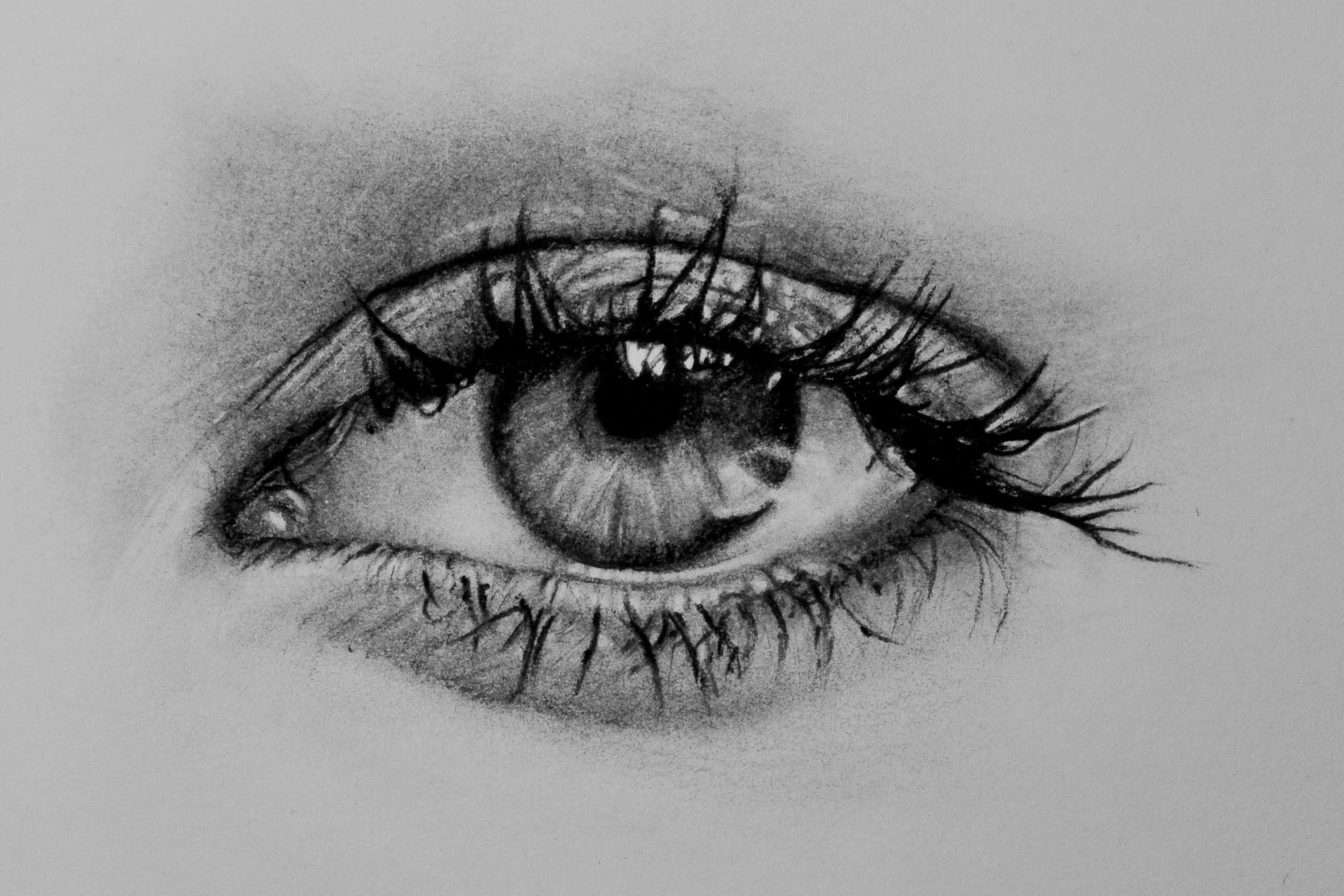 Drawn pen realistic drawing YouTube drawing)  eye (speed