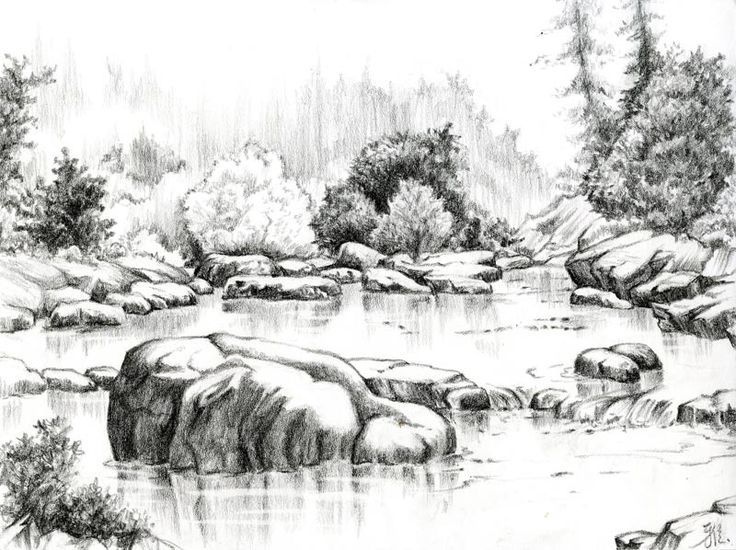 Drawn pen river