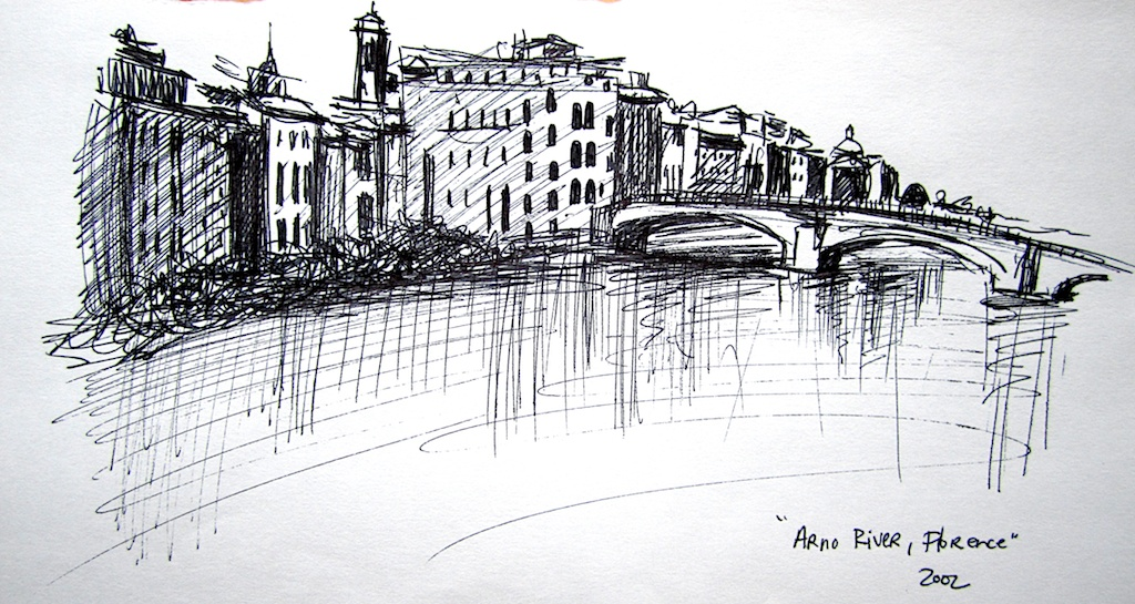 Drawn pen river NY by Valley photo: Arena