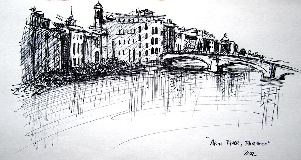 Drawn river pen Pen artist Katrie by on