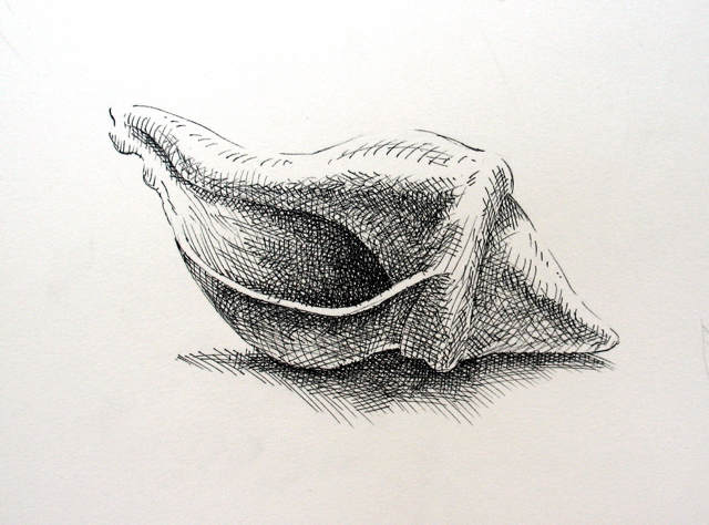 Drawn shell pen drawing Search Google Shell Antique shell