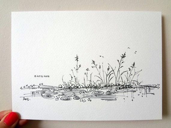 Drawn pen simple 25+ Osborne Original Drawing Print