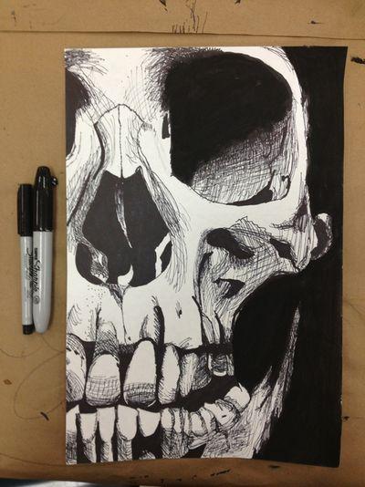 Drawn pen skull Pinterest photos) drawings Skull make