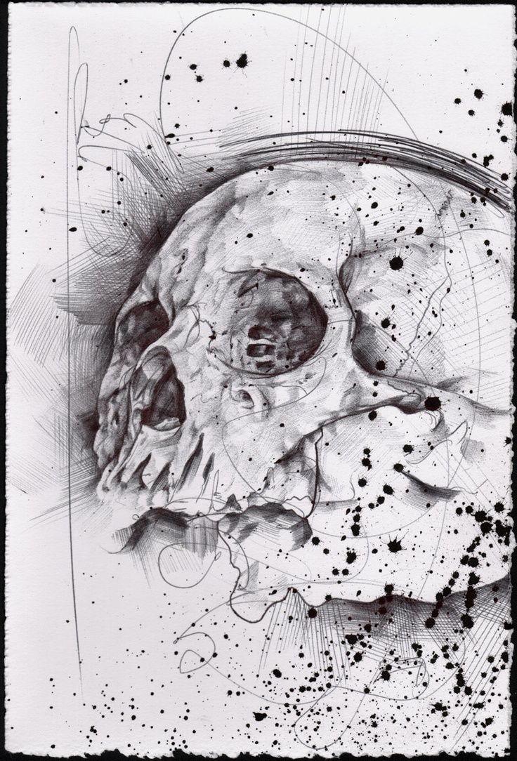 Drawn pen skull Pinterest Abstract about images and