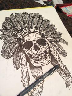 Drawn pen skull Skulls page Pen an on