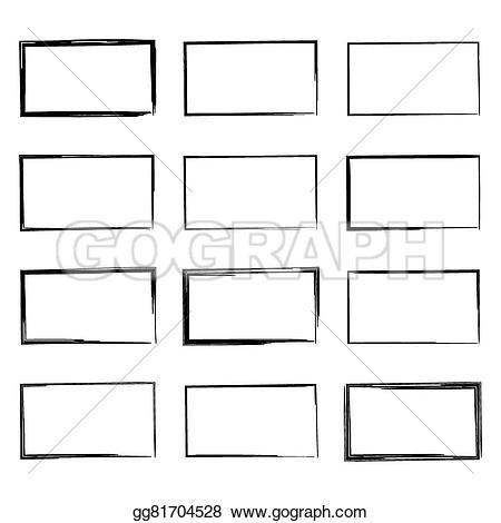 Drawn pen square Drawn Set hand square Illustration