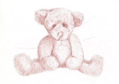 Drawn pen teddy bear The Drawing with for baqll