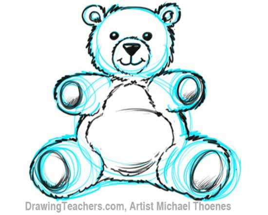Drawn pen teddy bear How Draw to Draw Bear