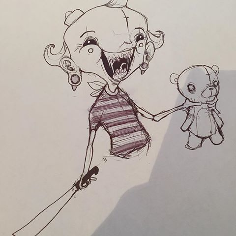 Drawn pen teddy bear #flapjack #cartoons #sketch #missadventuresofflapjack #sinner