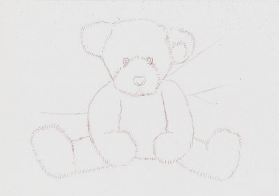 Drawn pen teddy bear Minutes Once lines satisfied a