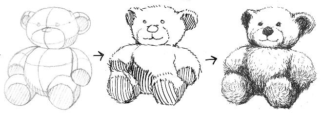 Drawn pen teddy bear Teddy Dunn's Papers & Bear