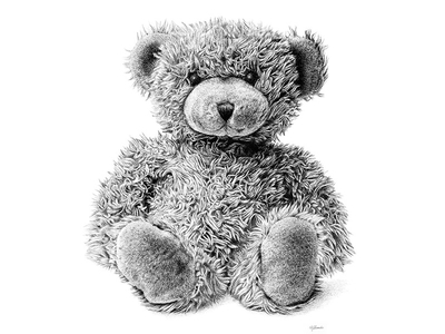 Drawn pen teddy bear Pen drawing Drawing Rovenko More