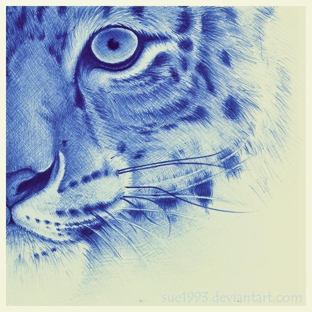 Drawn pen tiger Pen Art ballpoint Viol #drawing