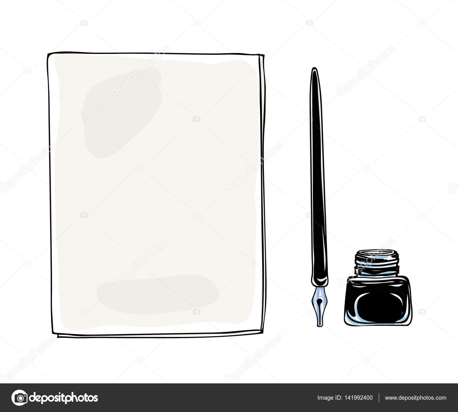 Drawn pen vintage Pen drawn vintage hand and