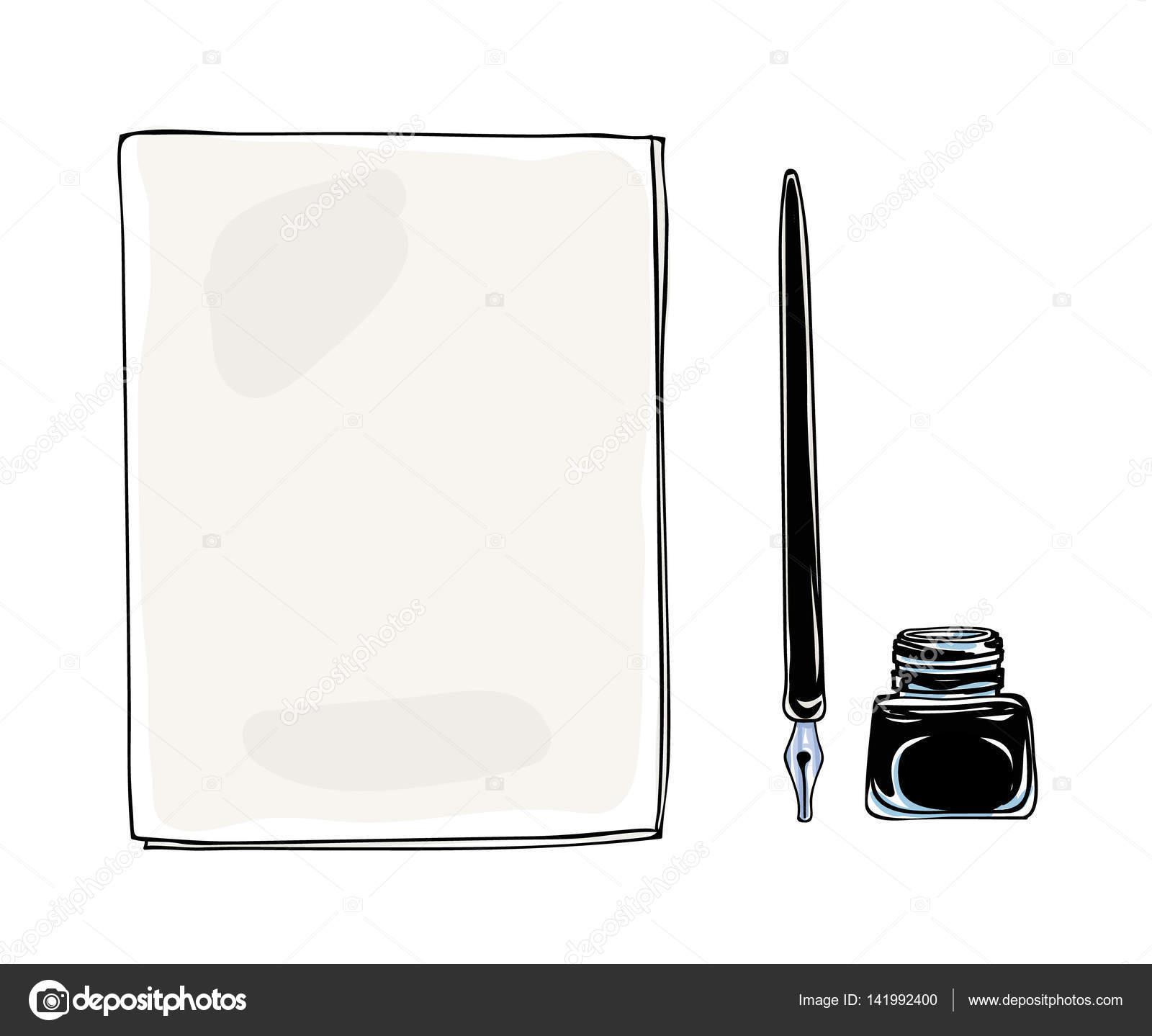 Drawn pen vintage Pen drawn vintage hand and