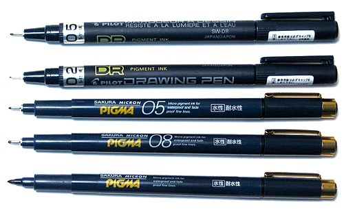 Drawn pen waterproof Angle dry a Page and