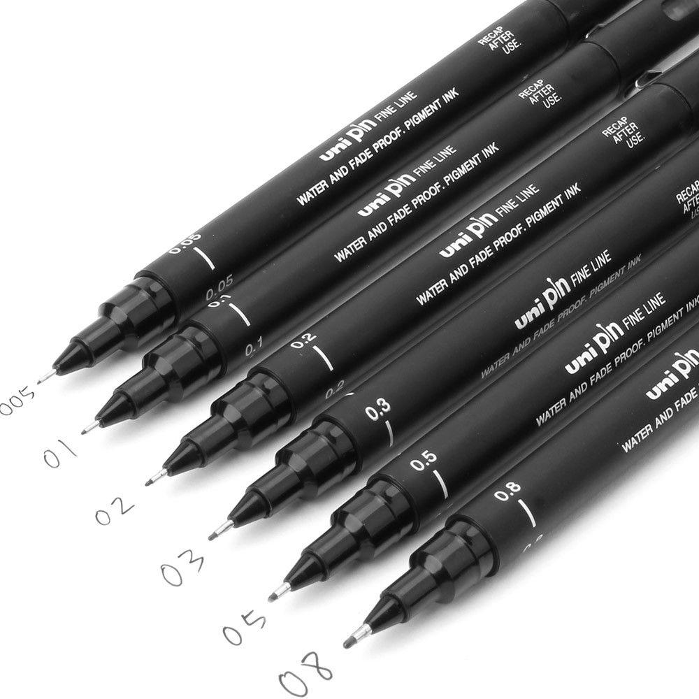 Drawn pen waterproof Pen Brush 02 Drawing 01