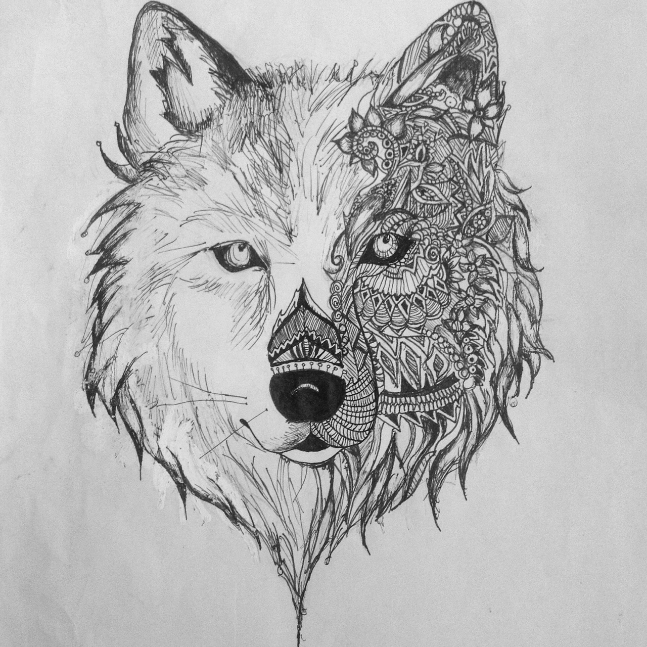 Drawn wallpaper wolf On I aztec year last