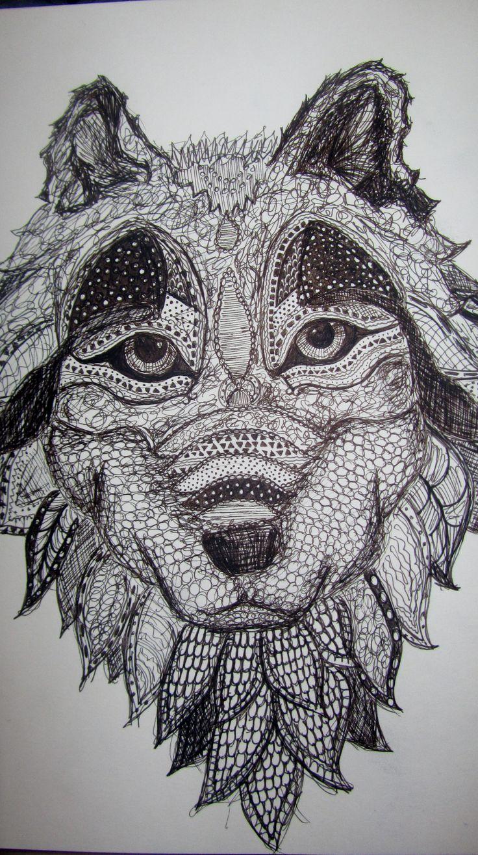 Drawn pen wolf Pinterest Lobos Wolves Best images