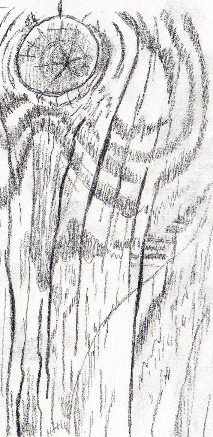 Drawn pen wood Texture Draw How Steps 1
