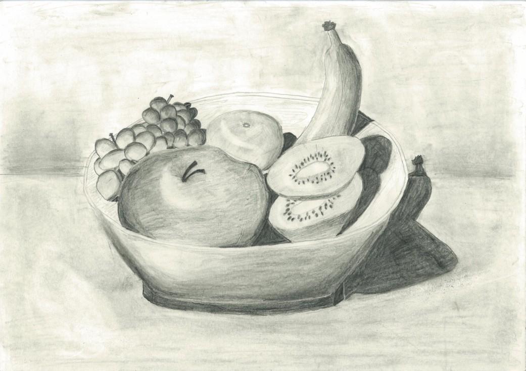 Drawn pencil fruit Leo Artwork Fruit Bea's Leo