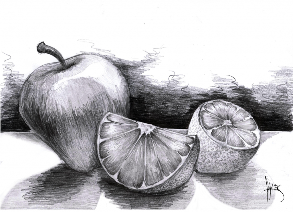 Drawn pencil fruit  Horses Images Drawings About