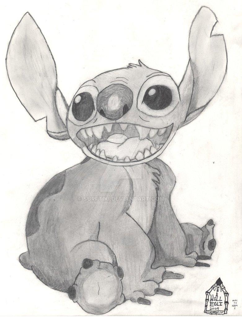 Drawn pencil lilo and stitch DeviantArt Stitch Lilo on SurfTiki