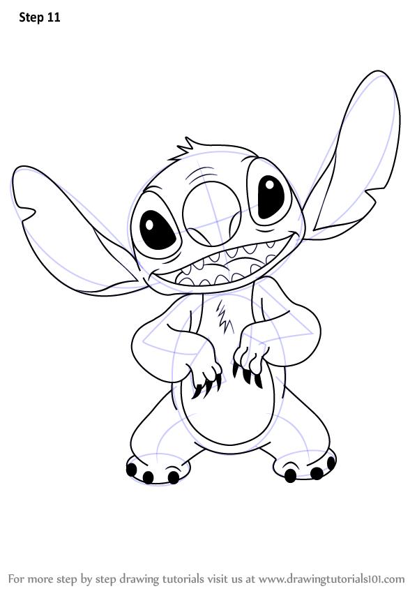Drawn pencil lilo and stitch (Lilo & Draw Step How