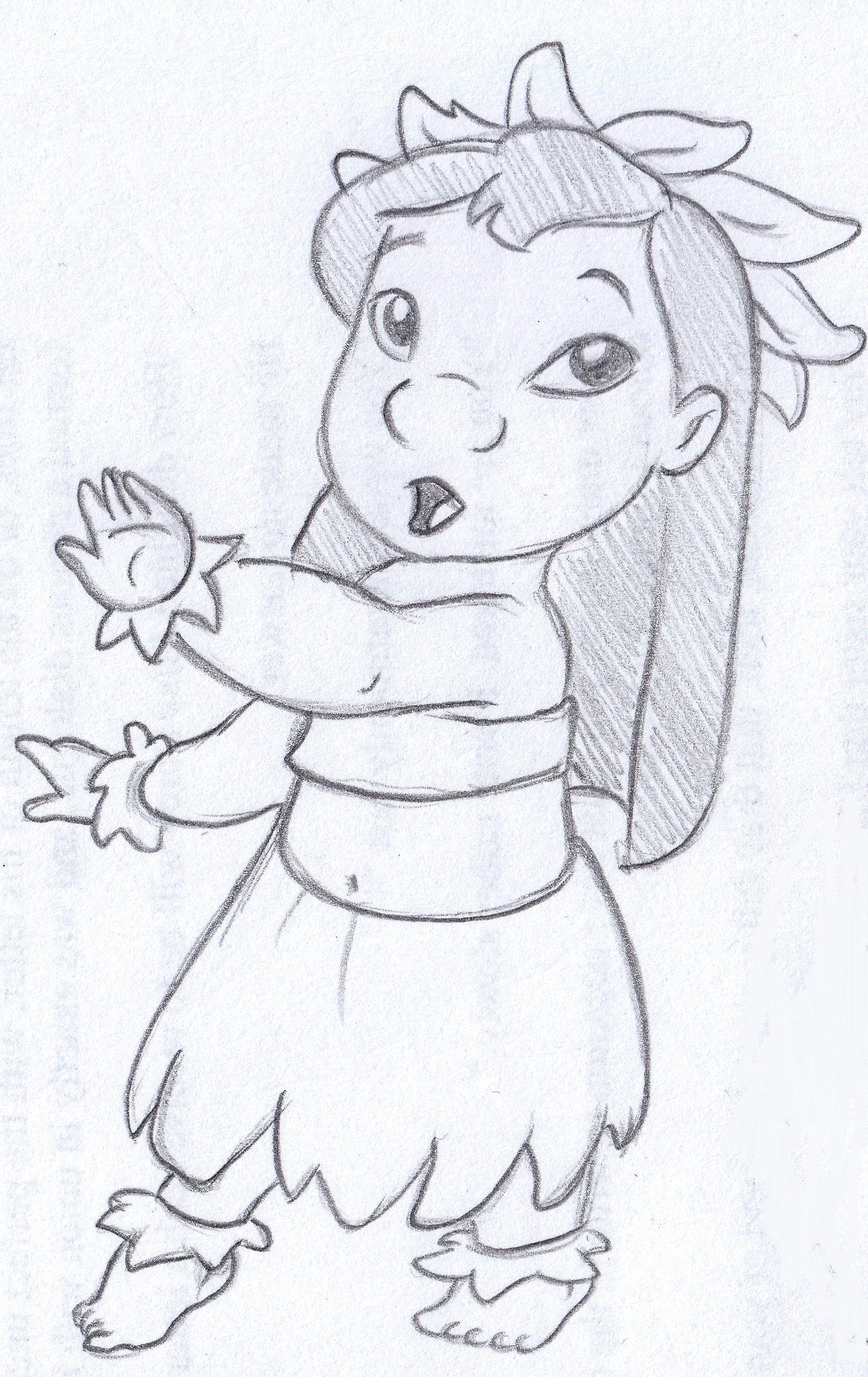 Drawn pencil lilo and stitch Helena by Art sketch Anna